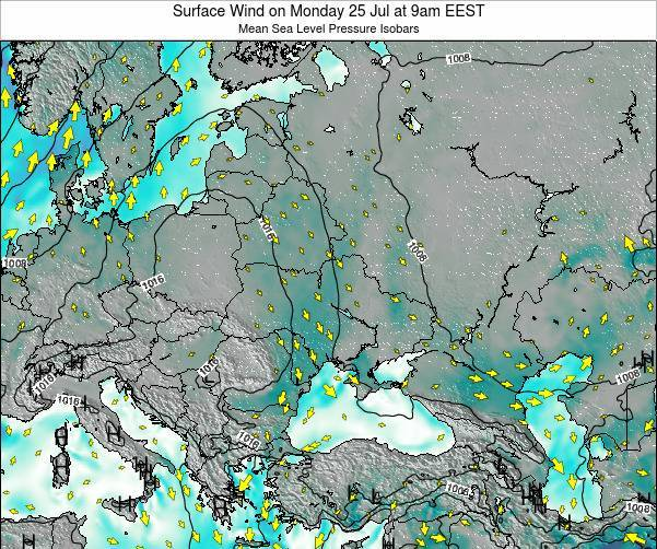 Ukraine Surface Wind on Monday 10 Mar at 8pm EET