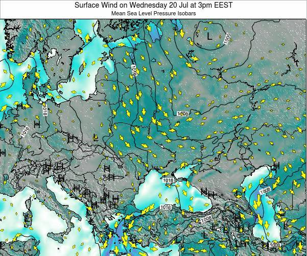 Ukraine Surface Wind on Thursday 31 Jul at 9pm EEST