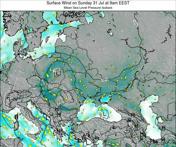 Ukraine Surface Wind on Wednesday 23 Apr at 9am EEST