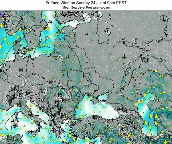 Ukraine Surface Wind on Saturday 26 Jul at 3am EEST