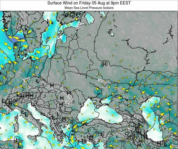 Ukraine Surface Wind on Tuesday 21 May at 9am EEST