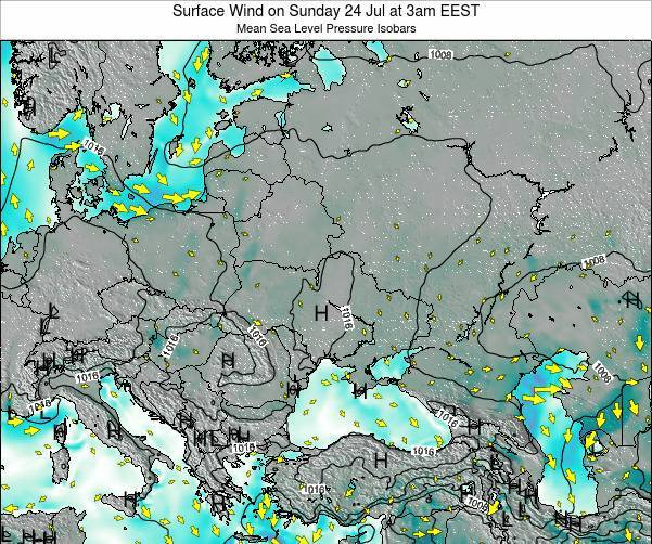 Ukraine Surface Wind on Sunday 26 Jun at 9am EEST