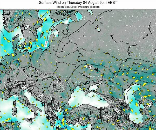 Ukraine Surface Wind on Saturday 19 Apr at 3pm EEST