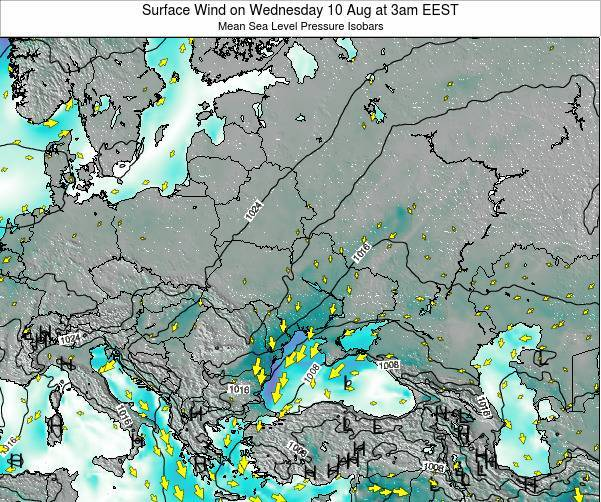 Ukraine Surface Wind on Monday 10 Mar at 8am EET