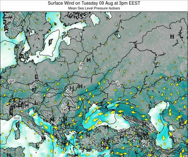 Ukraine Surface Wind on Saturday 26 Apr at 9am EEST