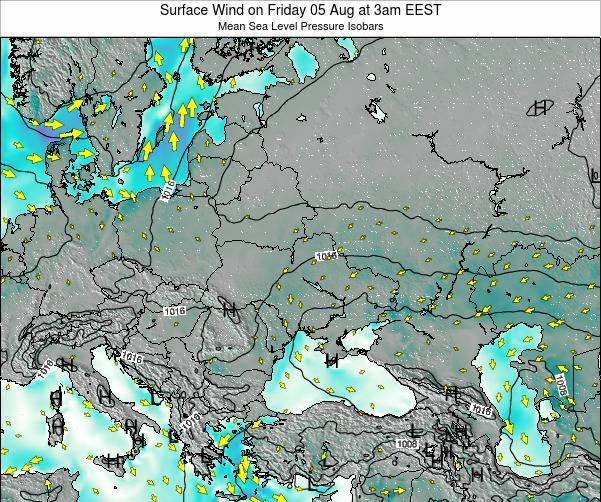 Ukraine Surface Wind on Saturday 04 Jul at 3am EEST