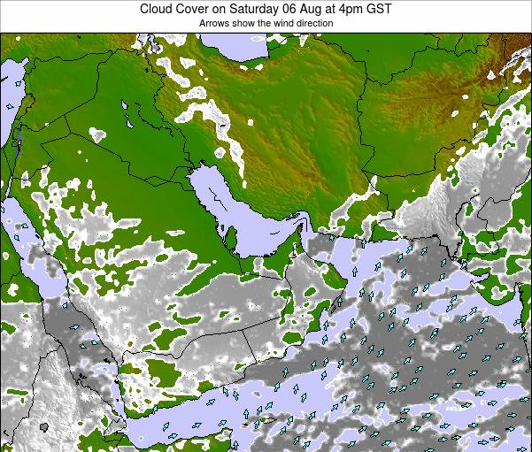 United Arab Emirates Cloud Cover on Thursday 08 May at 10am GST