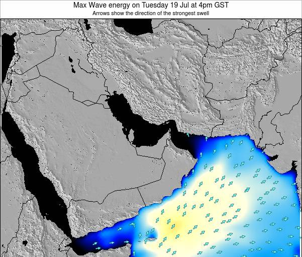 United Arab Emirates Max Wave energy on Wednesday 22 May at 4pm GST