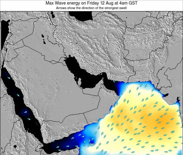 United Arab Emirates Max Wave energy on Friday 31 May at 4am GST