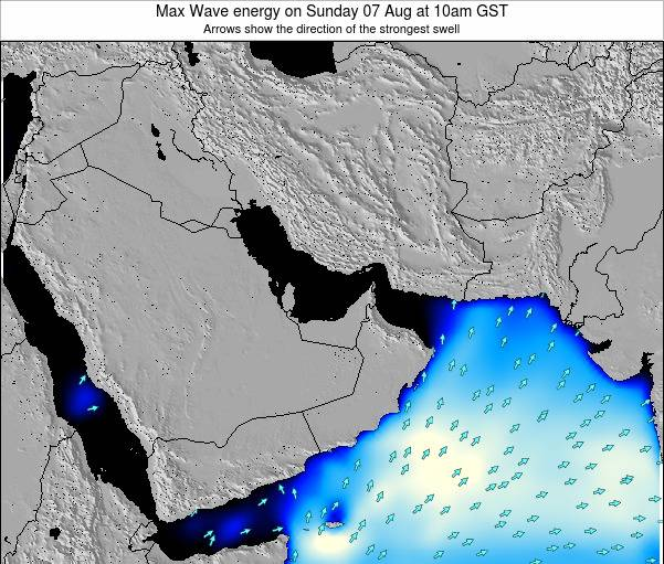 United Arab Emirates Max Wave energy on Tuesday 21 May at 10am GST
