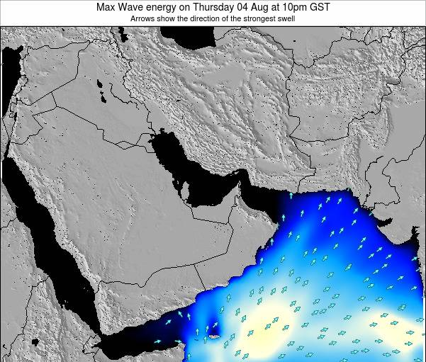 United Arab Emirates Max Wave energy on Friday 21 Jun at 10pm GST