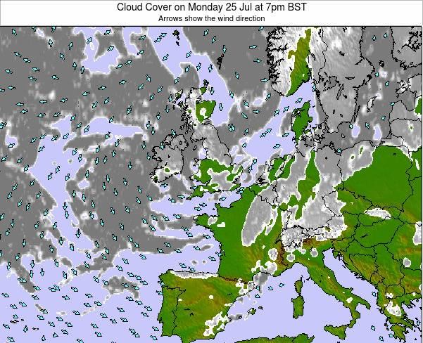 Faroe Islands Cloud Cover on Friday 21 Jun at 1pm BST