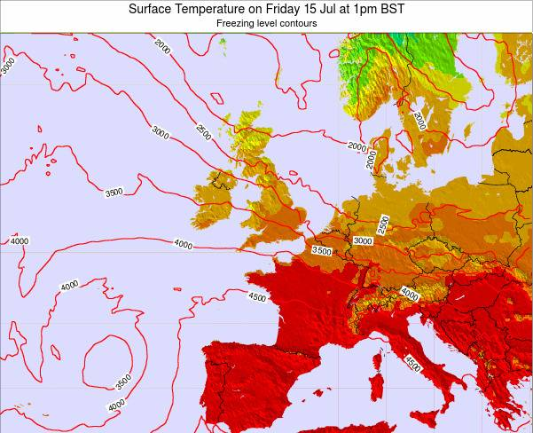 United Kingdom Surface Temperature on Sunday 26 May at 1pm BST