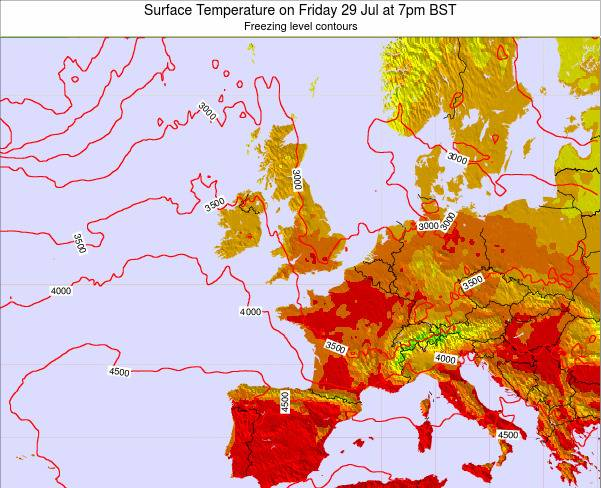 United Kingdom Surface Temperature on Saturday 18 May at 1pm BST