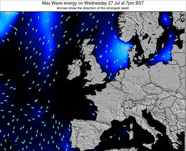 Guernsey Max Wave energy on Tuesday 22 Apr at 7am BST