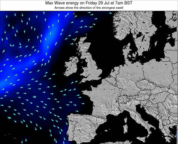 Guernsey Max Wave energy on Thursday 25 Sep at 7am BST