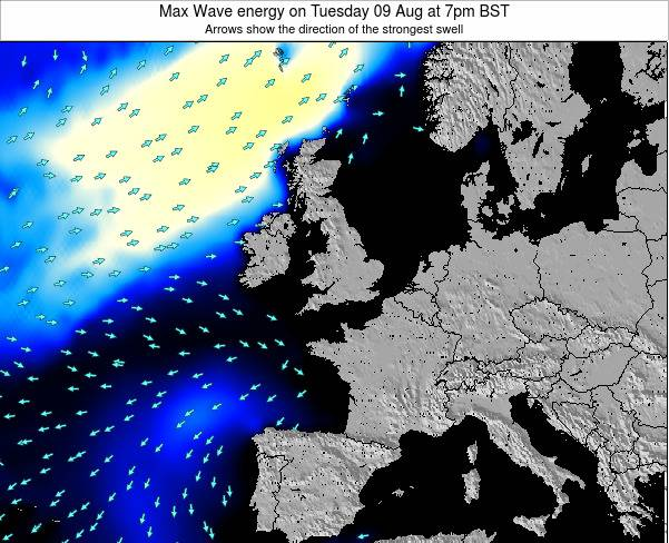 Ireland Max Wave energy on Monday 21 Apr at 7am BST
