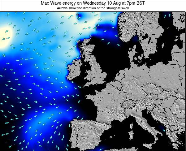 United Kingdom Max Wave energy on Thursday 23 May at 7am BST
