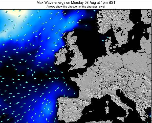 Ireland Max Wave energy on Wednesday 26 Sep at 7am BST map