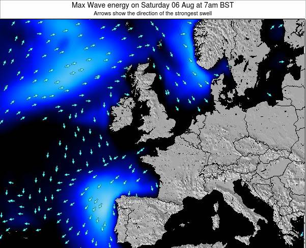 Ireland Max Wave energy on Saturday 15 Mar at 6am GMT