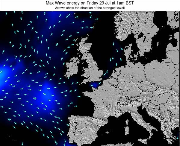 Guernsey Max Wave energy on Thursday 13 Mar at 6am GMT