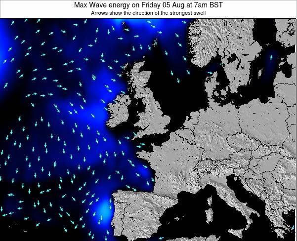 Ireland Max Wave energy on Friday 18 Jan at 6am GMT map