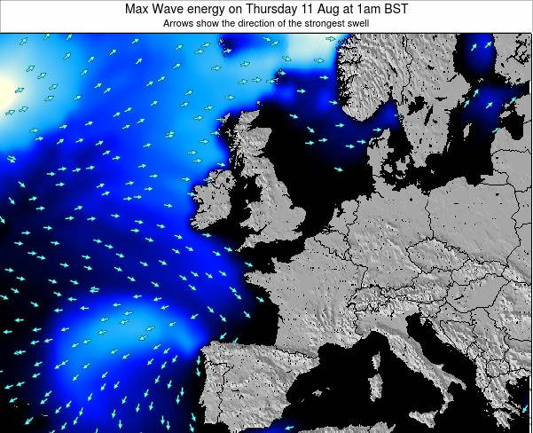 Ireland Max Wave energy on Saturday 02 Aug at 7pm BST