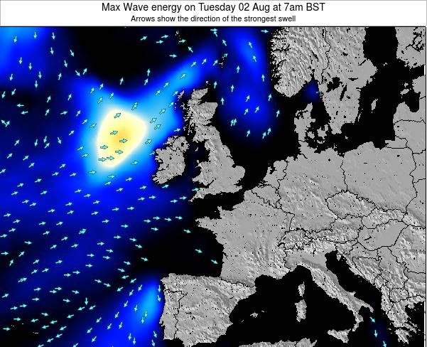 Ireland Max Wave energy on Tuesday 29 Jul at 1pm BST