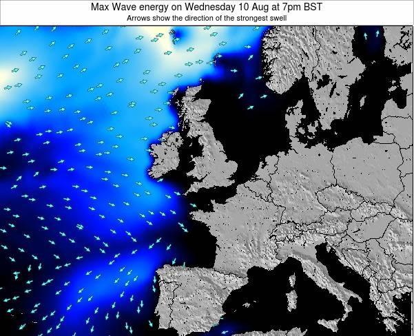 United Kingdom Max Wave energy on Wednesday 30 Apr at 7am BST