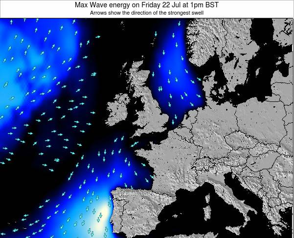Ireland Max Wave energy on Wednesday 30 Jul at 1pm BST