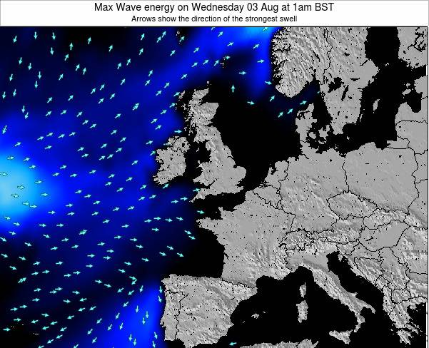Ireland Max Wave energy on Tuesday 17 Dec at 12pm GMT