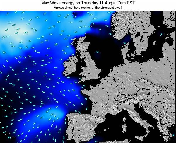 Ireland Max Wave energy on Wednesday 30 Apr at 1pm BST