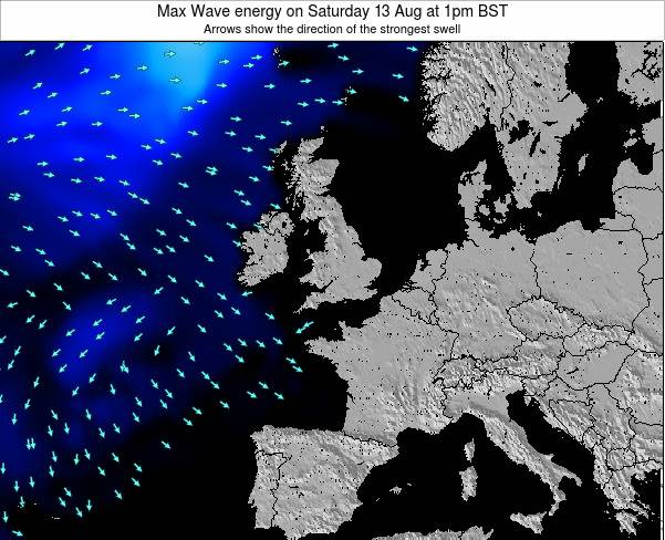 Ireland Max Wave energy on Friday 25 Aug at 7pm BST