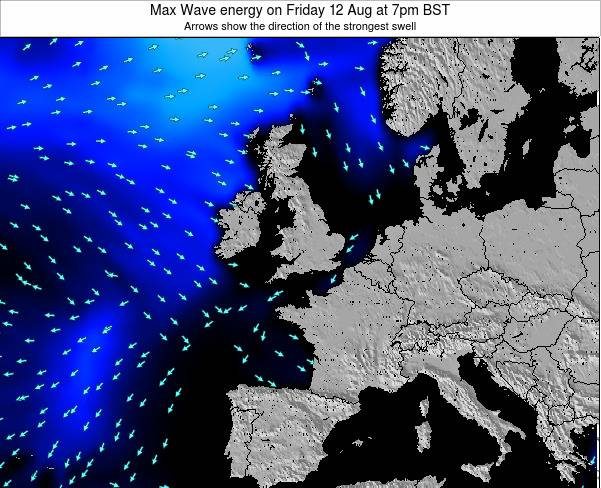 Ireland Max Wave energy on Thursday 31 Jul at 1pm BST