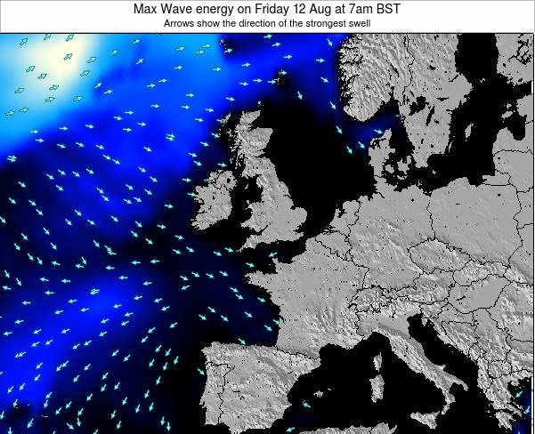Ireland Max Wave energy on Saturday 15 Mar at 6pm GMT