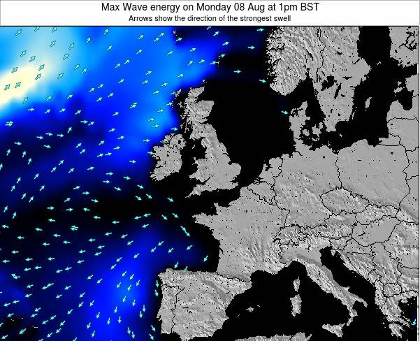 Ireland Max Wave energy on Friday 25 Apr at 1pm BST