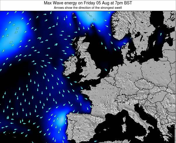 Ireland Max Wave energy on Tuesday 25 Nov at 12pm GMT