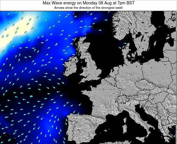 Guernsey Max Wave energy on Monday 30 Mar at 6am GMT
