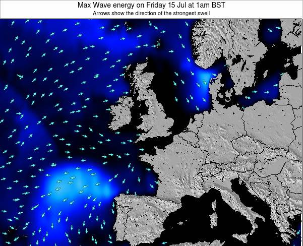 Ireland Max Wave energy on Tuesday 22 Jul at 7pm BST