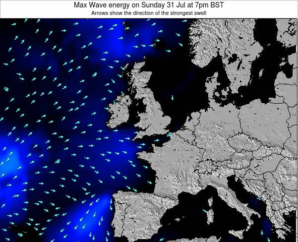 Ireland Max Wave energy on Monday 10 Mar at 12am GMT