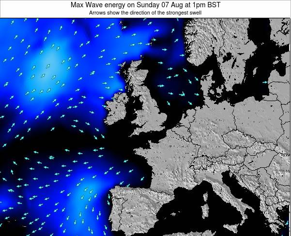 Ireland Max Wave energy on Monday 28 Jul at 7pm BST