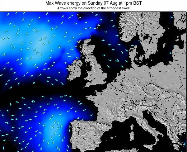 Ireland Max Wave energy on Monday 24 Nov at 12pm GMT
