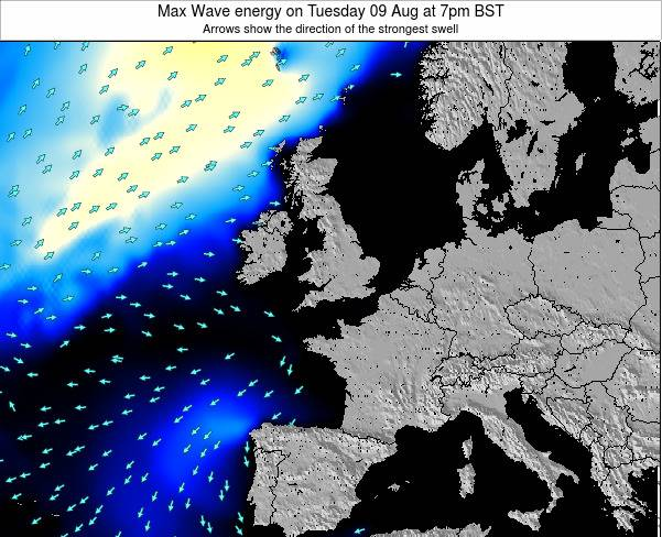 Ireland Max Wave energy on Thursday 21 Feb at 6pm GMT map