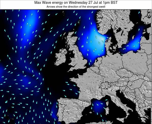 Ireland Max Wave energy on Wednesday 07 Oct at 1am BST