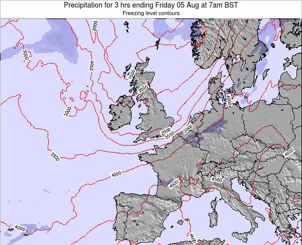 Ireland Precipitation for 3 hrs ending Monday 24 Jun at 7am BST map