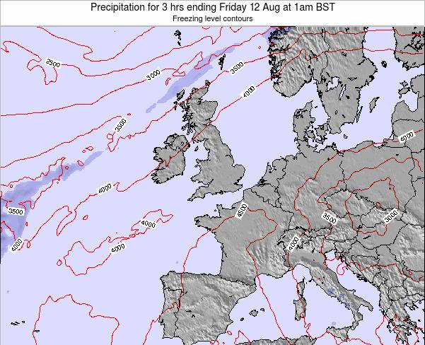 Faroe Islands Precipitation for 3 hrs ending Sunday 26 May at 1pm BST