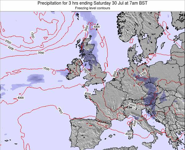 Ireland Precipitation for 3 hrs ending Sunday 26 May at 1am BST map