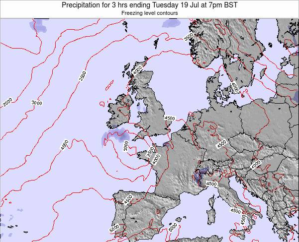 Faroe Islands Precipitation for 3 hrs ending Saturday 25 May at 7pm BST