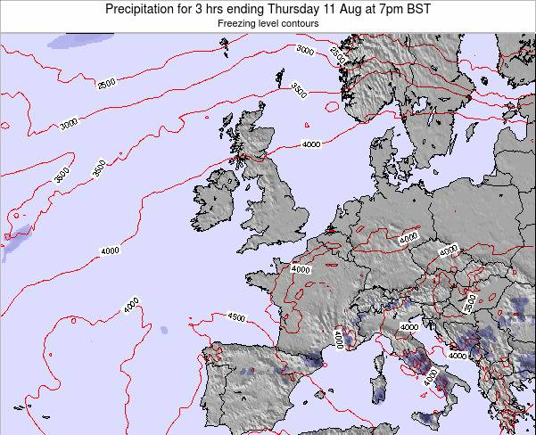 Ireland Precipitation for 3 hrs ending Friday 14 Mar at 6am GMT map