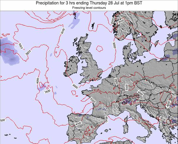 Ireland Precipitation for 3 hrs ending Monday 28 Apr at 1pm BST map